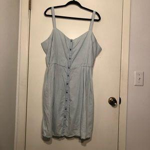 Old Navy Light Blue Denim Dress Size XXL
